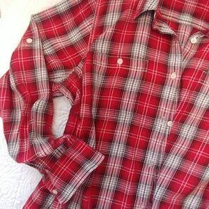 Lauren Ralph Lauren, Red plaid shirt,2x